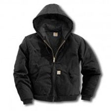 Carhartt Duck Active Jacket - Quilted-Flannel Lined