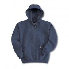 Heavyweight Hooded Zip-Mock Sweatshirt