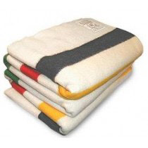 Hudsons Bay Blankets are made with plush wool.